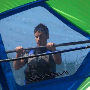 alumno de nuestro curso de windsurf
