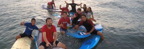 clase de surf en Punta del Moral , Huelva con Kanela Sailing School
