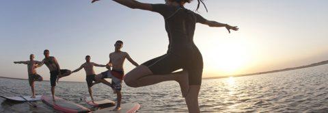 Isla Canela clase de sup yoga