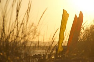 Atardecer en Kanela Sailing School Isla Canela