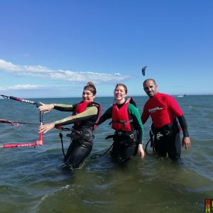 curso de kitesurf en Isla Canela Raquel Revuelta