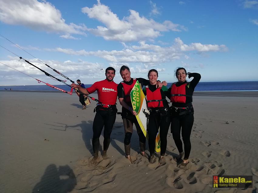 curso de kitesurf en Huelva Raquel Revuelta
