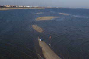 playa de Punta del Moral bajos de arena