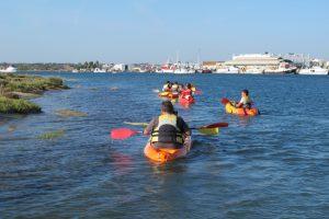 ruta en kayak por Punta del Moral