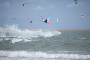 kitesurf en Isla Canela con viento de poniente