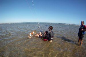kitesurf lesson Isla canela Kanela sailing school